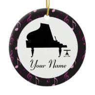 Personalized Piano Gift Music Ornament