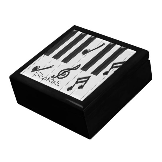 Personalized Piano Keyboard Jewelry Box