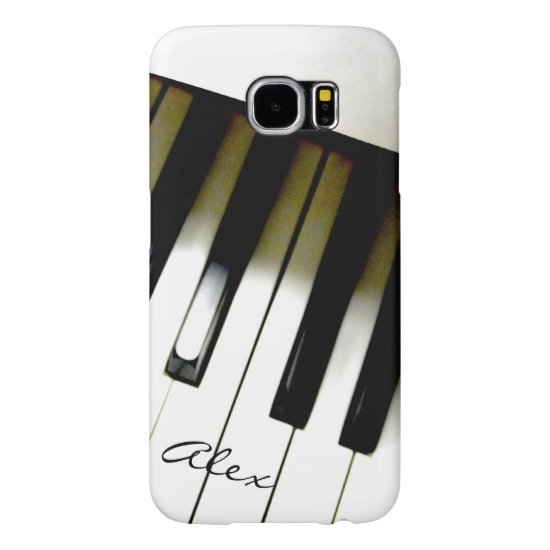 Personalized Piano Keyboard Music Galaxy S6 Case