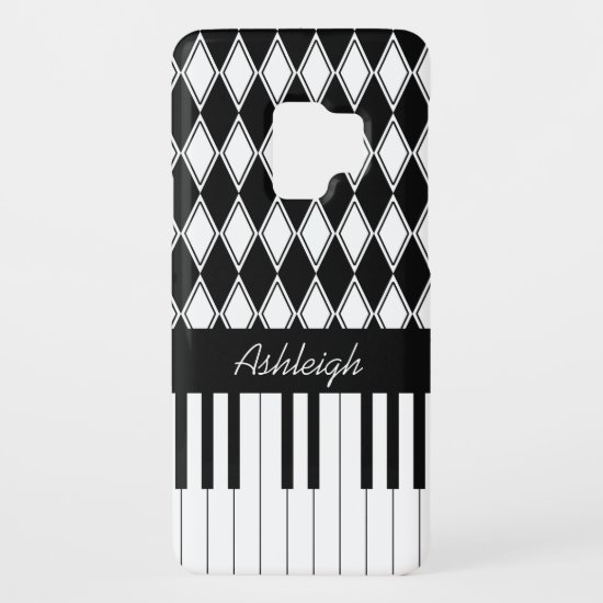 Personalized Piano Keys and Diamonds Case-Mate Samsung Galaxy S9 Case