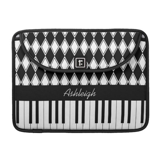 Personalized Piano Keys and Diamonds Sleeve For MacBooks