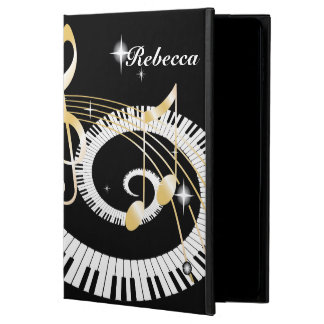 Personalized Piano Keys and Golden Music Notes Powis iPad Air 2 Case