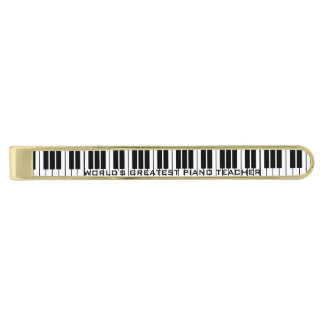 Personalized piano keys tie bar clip for pianist