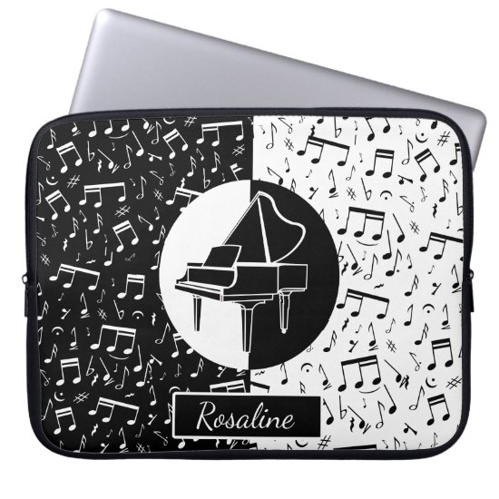 Personalized Piano lover art Computer Sleeve