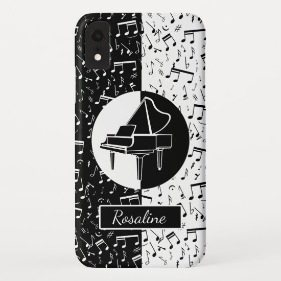 Personalized Piano lover art iPhone XR Case