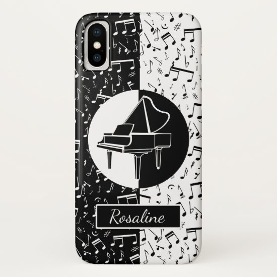 Personalized Piano lover art iPhone XS Case