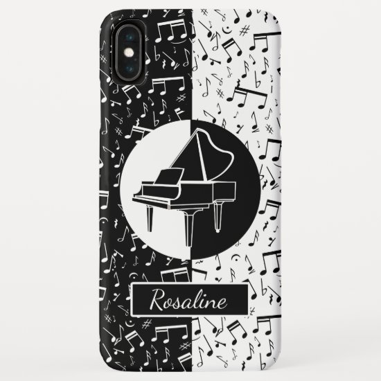 Personalized Piano lover art iPhone XS Max Case