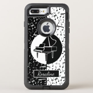 Personalized Piano lover art OtterBox Defender iPhone 8 Plus/7 Plus Case