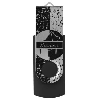 Personalized Piano lover art USB Flash Drive