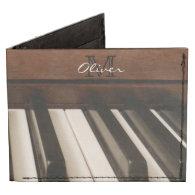 Personalized Piano Music Billfold Wallet Tyvek® Billfold Wallet