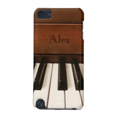 Personalized Piano Music Ipod Touch Case at Zazzle