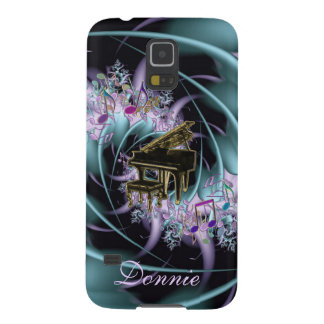 Personalized Piano Music Notes Galaxy S5 Case
