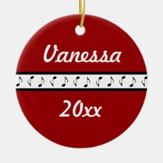 Personalized Piano Music Ornament Gift