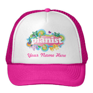 Personalized Piano Music Pianist Logo Hat Gift