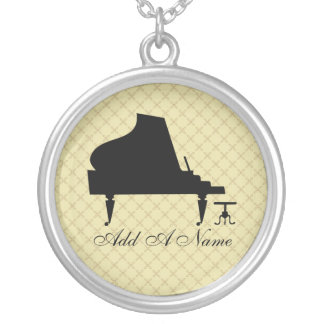 Personalized Piano Music Silhouette Necklace Gift