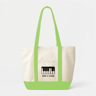Personalized Piano Music Totebag Impulse Tote Bag