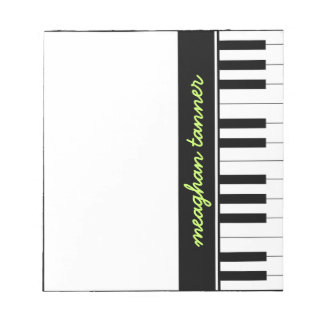 Personalized Piano Note Pad