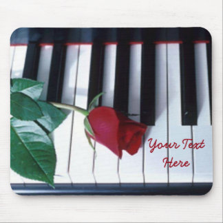 Personalized Piano Rose Keyboard Pattern Mouse Pad