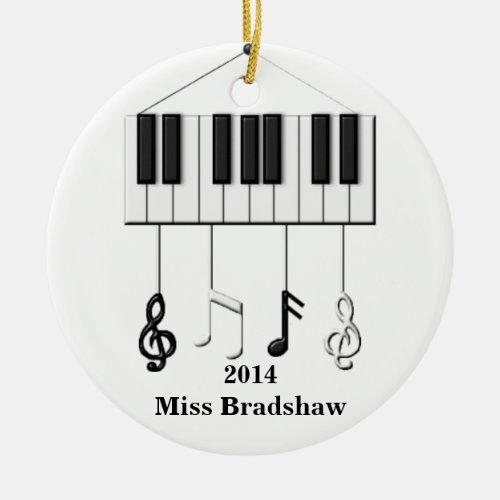 Personalized  Piano Teacher  Ornament