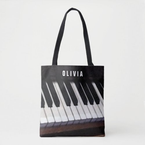 personalized piano_themed gift ideas tote bag