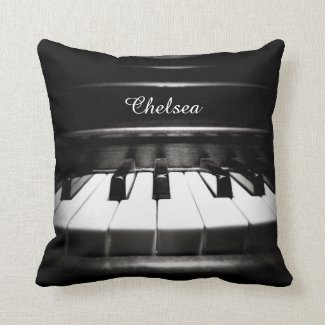 Personalized Piano Throw Pillow