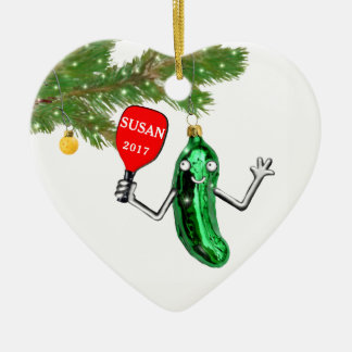 personalized pickleball ceramic ornament
