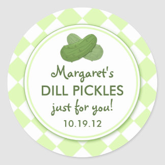 Personalized Pickles Round Canning Stickers