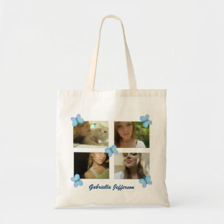 Personalized Picture Collage: Butterfly Tote Bag