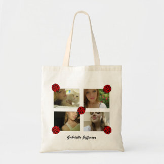 Personalized Picture Collage: Ladybug Tote Bag