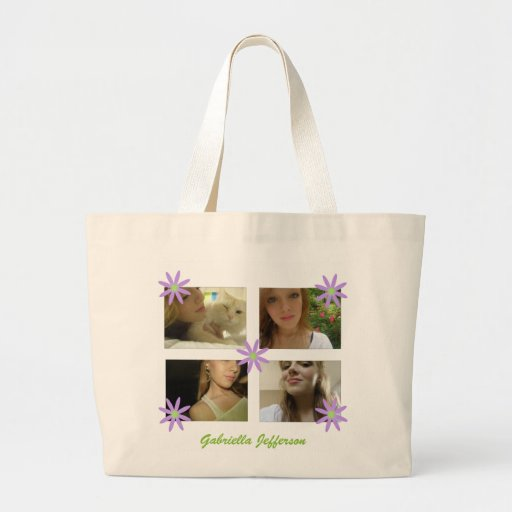 Personalized Picture Collage Tote Bag