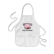Personalized Pig Apron for Kids