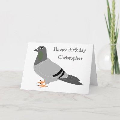 Pigeon Birthday Card Zazzle
