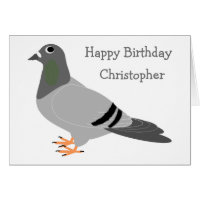 Pigeon birthday cards greeting photo cards zazzle personalized pigeon design birthday greeting cards bookmarktalkfo Images