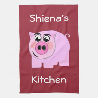 Personalized Piggy Hand Towels