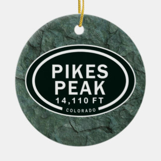 Personalized Pikes Peak CO Mountain Ornament