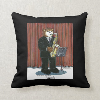 Personalized Pillow for Male Sax Player