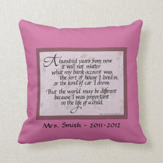 Personalized Pillow for Teacher American MoJo