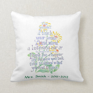 Personalized Pillow for Teacher, American MoJo Pil