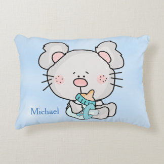 Personalized Pillow Mouse with Baby Bottle