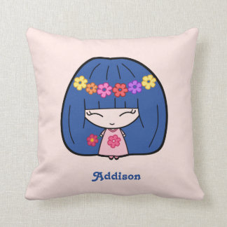 Personalized Pillows With Cute Kawaii Girl