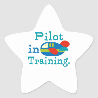 Personalized Pilot in Training Star Sticker