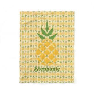 Personalized Pineapple Fleece Blanket