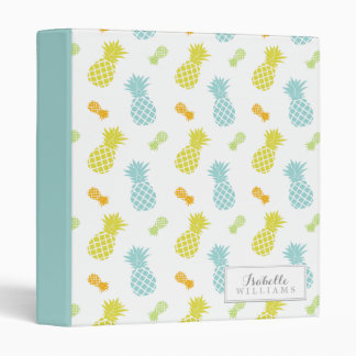 Personalized Pineapples Pattern Binder