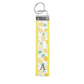 Personalized | Pineapples Wrist Keychain