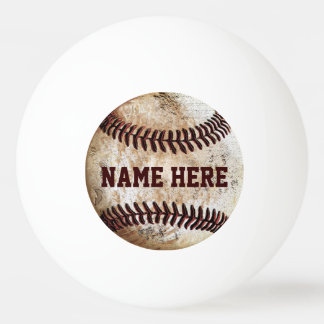 Personalized Ping Pong Balls for Baseball Lovers