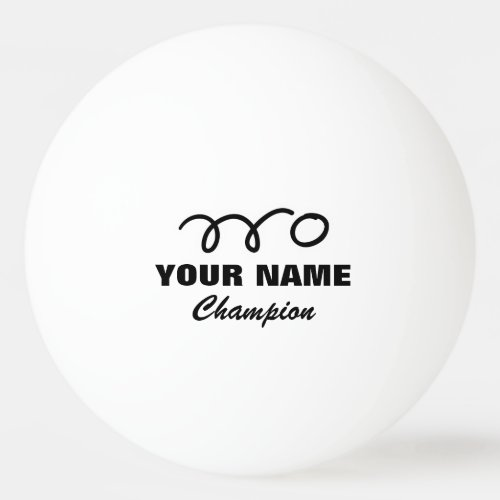 Personalized ping pong balls for table tennis game