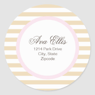 Personalized Pink Address Label/Merchandise Seal