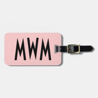 Personalized Pink and Black Luggage Tag