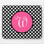 Personalized Pink And Black Mousepad