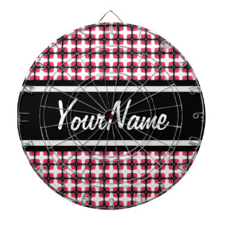 Personalized Pink and Black Stylish Classy Pattern Dart Boards